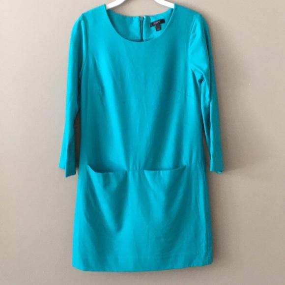 J. Crew Dresses & Skirts - ⭐️J. Crew teal Jules shift dress size 0
